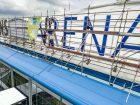 Neue Strahlkraft: Schriftzug der Veltins-Arena mit LED-Technik spart künftig 60% Strom
