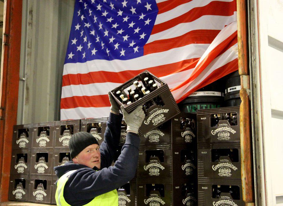 Erster Container bringt Grevensteiner Landbier nach New York, Seattle und San Diego