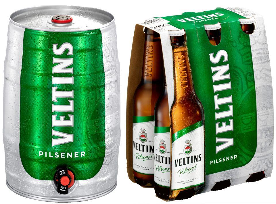 Sixpacks und 5-Liter-Dose starten mit konturiertem Marken-Design