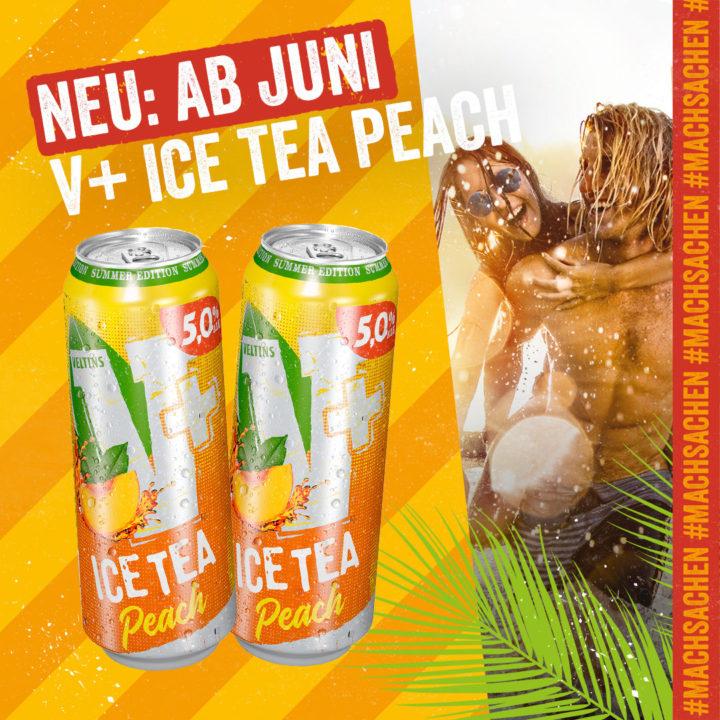 Summer-Edition: Fruchtig-herbe Erfrischung mit V+ Ice Tea Peach